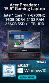 "Acer Predator 15 G9-593-72VT 15.6"" Gaming Laptop Computer"