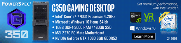 PowerSpec G350 Gaming PC