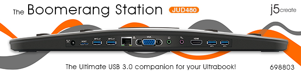 The Boomerang Station. JUD480. The Ultimate USB 3.0 companion for your Ultrabook.