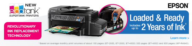 EPSON. ecotank. Loaded & Ready!
