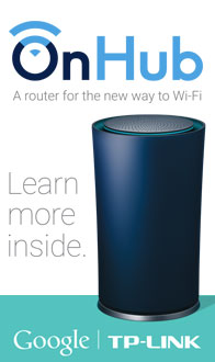 OnHub. A router for the new way to Wi-Fi.