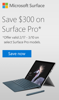 Save $300 on Select Microsoft Surface Pro