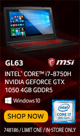 "MSI GL63 15.6"" Gaming Laptop Computer"