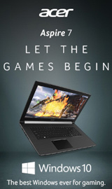 Acer Aspire 7. Let the games begin.