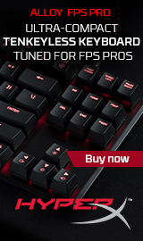 Alloy FPS Pro. Ultra-Compact. Tenkeyless Keyboard. Tuned for FPS Pros.