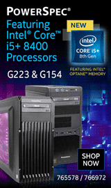 PowerSpec featuring Intel Core i5 with Optane!