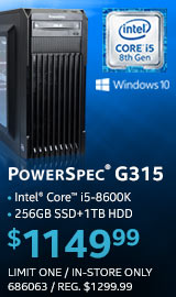 PowerSpec G315 Gaming PC
