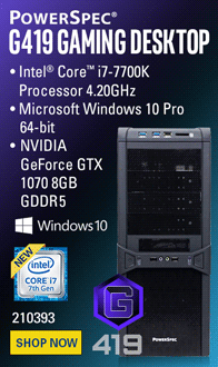 PowerSpec G419 Gaming PC