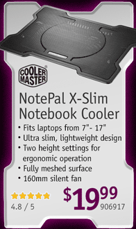 NotePal X-Slim Notebook Cooler!
