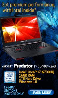 """Acer Predator 17 G5-793-72AU 17.3"""" Gaming Laptop Computer"""