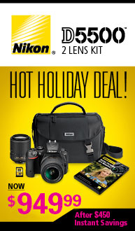 Nikon D5500 Holiday Kit