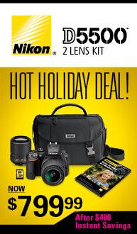 Nikon D5500 Holiday Kit