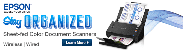Epson - Stay Organized! Sheet-fed Color Document Scanners