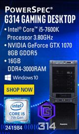 PowerSpec G314 Gaming PC