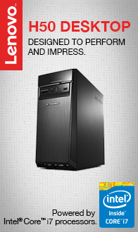 Lenovo H50. Designed to Perform and Impress