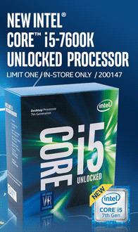 New INTEL Core i5-7600K Unlocked Processor