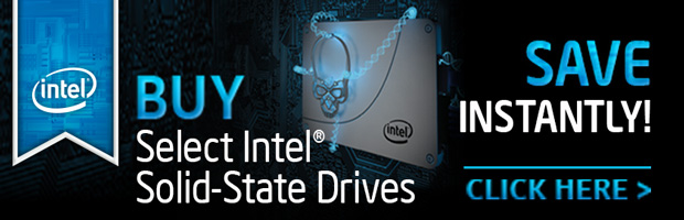 BUY Select Intel SSD and SAVE INSTANTLY!