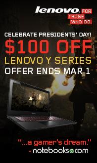$100 Off LENOVO Y Series!