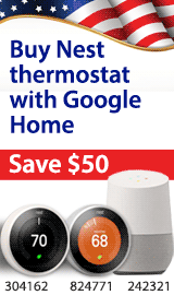 Google Home & Nest Thermostat. Save $50 through April 22nd when purchased together.