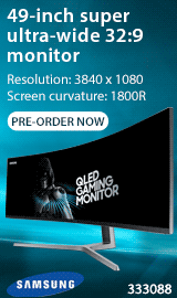 "Samsung 49"" Ultra-Wide 32:9 HDR QLED Monitor"