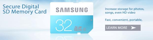 Samsung 32GB Secure Digital SD Class 6 Memory Card
