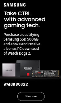 Samsung. Purchase 500GB and above SSD. Get Watch Dogs 2 for Free.