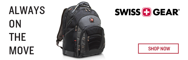 Swiss Gear. Alway on the move.