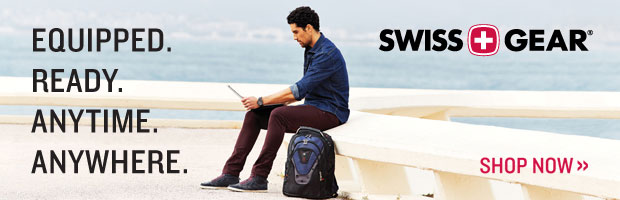 Swiss Gear. Equipped. Ready. Anytime. Anywhere.