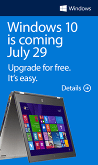"Microsoft Windows 10. Buy one. Get ""10"" free!"