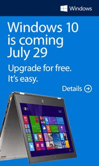 "Microsoft Windows 10. Buy one. Get ""10"" free!"