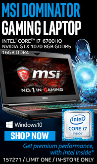 MSI Dominator Gaming Laptop.