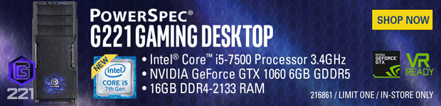 PowerSpec G221 Gaming PC