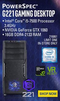 PowerSpec G221 Gaming PC