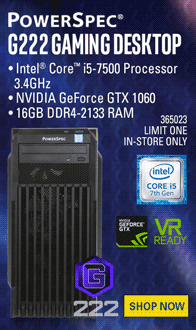 PowerSpec G222 Gaming PC