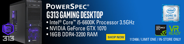 PowerSpec G313 Gaming PC