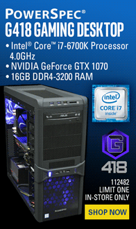 PowerSpec G418 Gaming PC