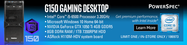 PowerSpec G150 Gaming PC