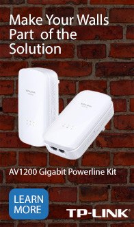 Make your wall part of the solution. TP-Link Powerline.