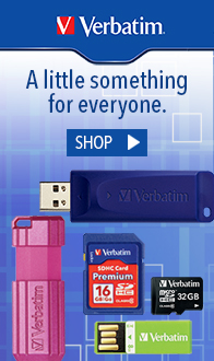 Verbatim USB Flash Drive, SD Cards & MicroSD Cards