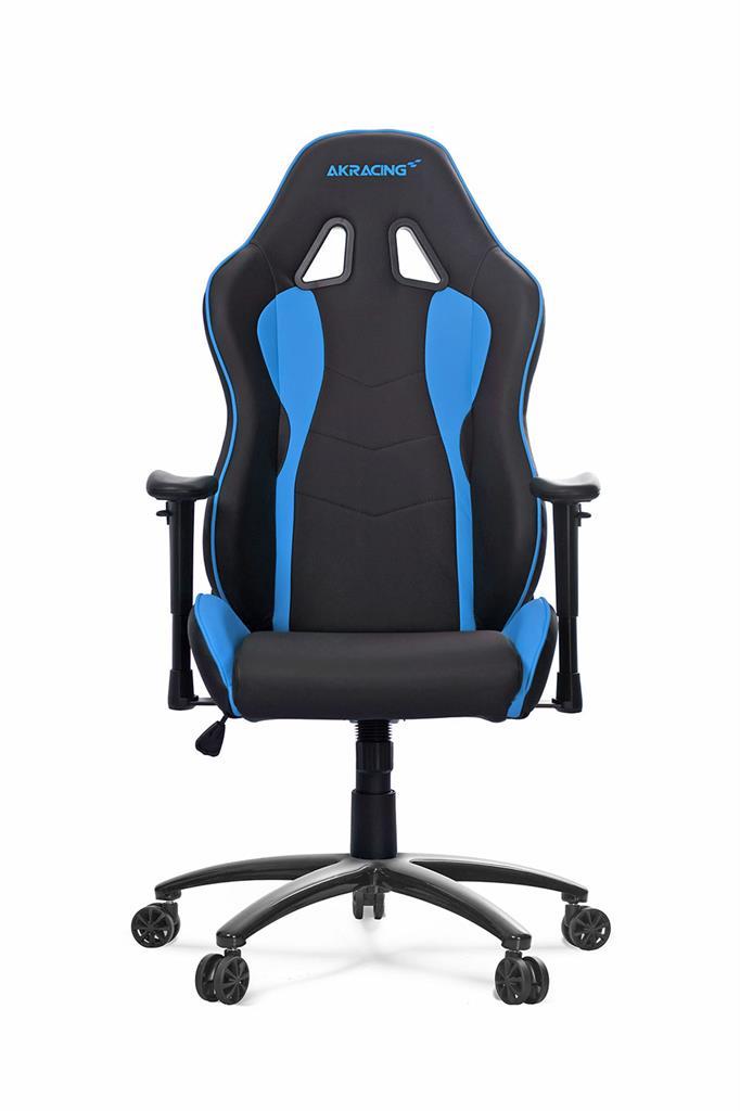 akracing nitro gaming chair black blue 848861 micro center