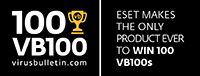 100 VB100 ESET makes the only product ever to win 100 VB100s
