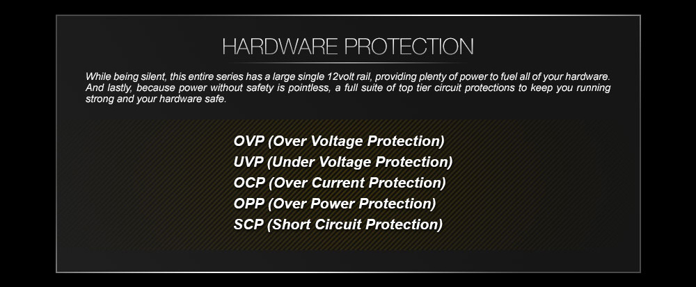 EVGA 750 G2 XR Hardware Protection Graphic