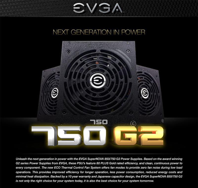 EVGA 750 G2 XR Image