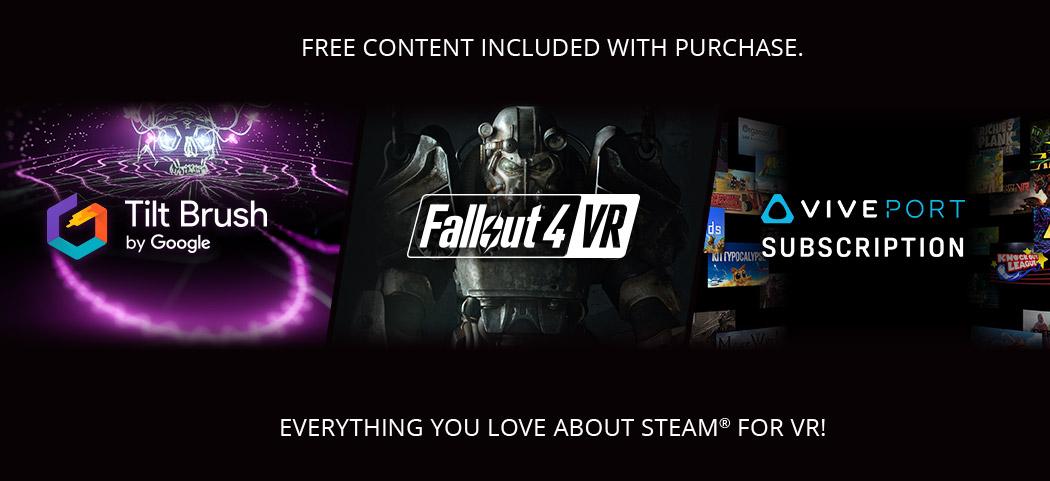 Tilt Brush, Fallout 4, Viveport banner