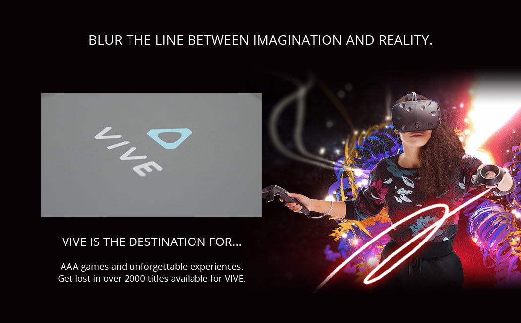 HTC Vive Gaming Header