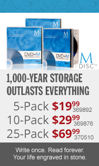 M-Disc designed to make your data endure the next 1000 years