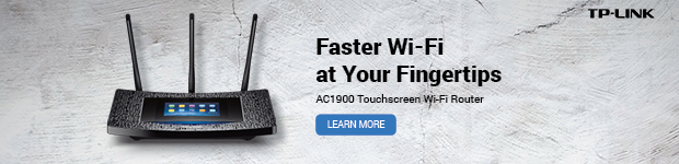 Faster Wi-Fi at Your Fingertips. TP-LINK AC1900 Touchscreen Wi-Fi Router