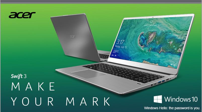 Acer Swift 3. Make Your Mark