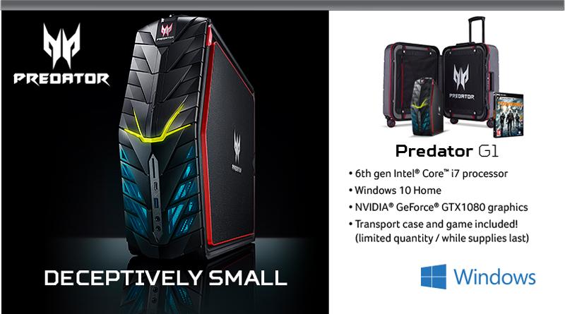 Acer Predator G1 Desktop - Deceptively Small