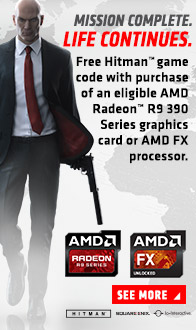 AMD. Free Hitman game code with purchase of eligible AMD Video Cards